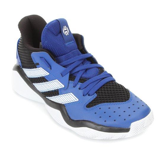 Tênis Adidas Harden Stepback Masculino - Preto+Azul
