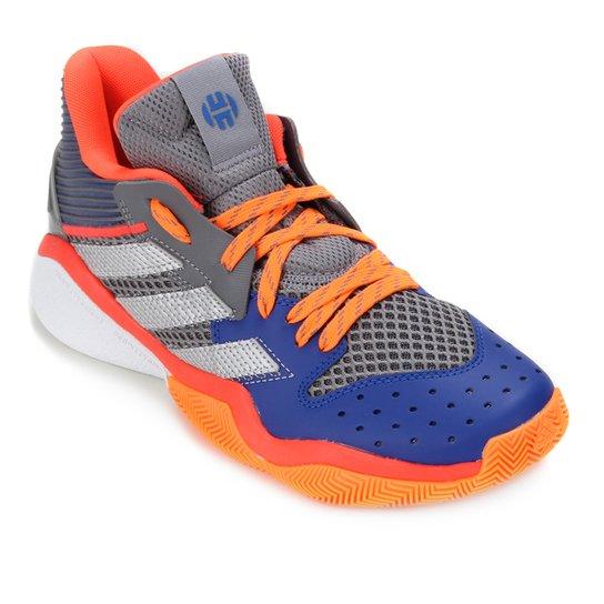 Tênis Adidas Harden Stepback Masculino - Cinza+Prata
