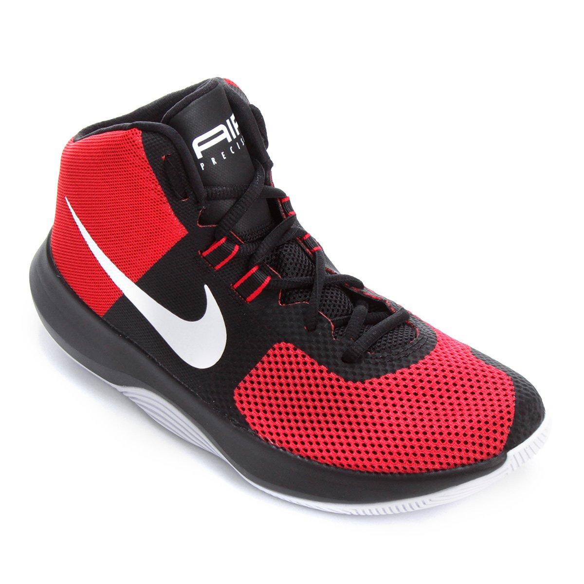 b2a46e3fd75 Tênis Cano Alto Nike Air Precision Masculino - Vermelho e Preto - Compre  Agora