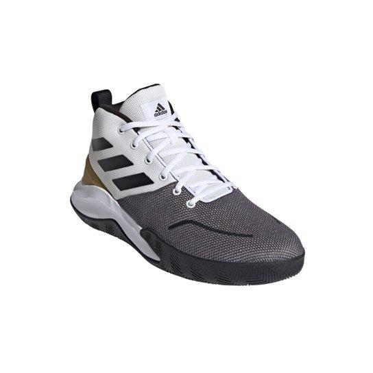 Tênis Cano Mèdio Adidas Ownthegame Masculino - Branco+Preto