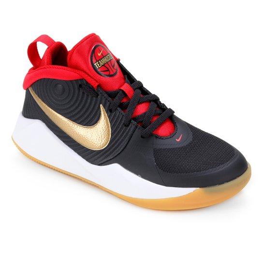 Tênis Infantil Nike Team Hustle D 9 GS - Cinza+Dourado