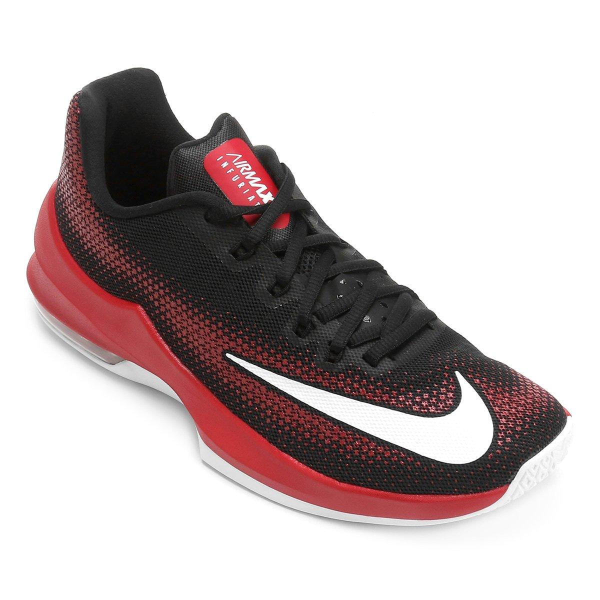 53ca4583d8 Tênis Nike Air Max Infuriate Low Masculino - Preto e Vermelho ...