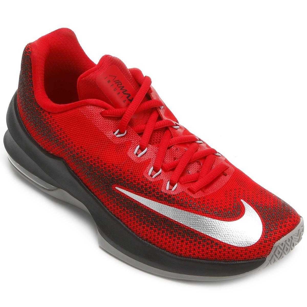 b473183395 Tênis Nike Air Max Infuriate Low Masculino - Vermelho e Preto