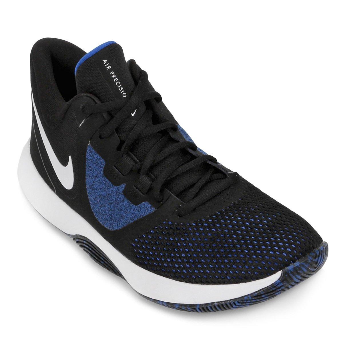 db09cf65e4509 Tênis Nike Air Precision II Masculino - Preto e Azul - Compre Agora ...