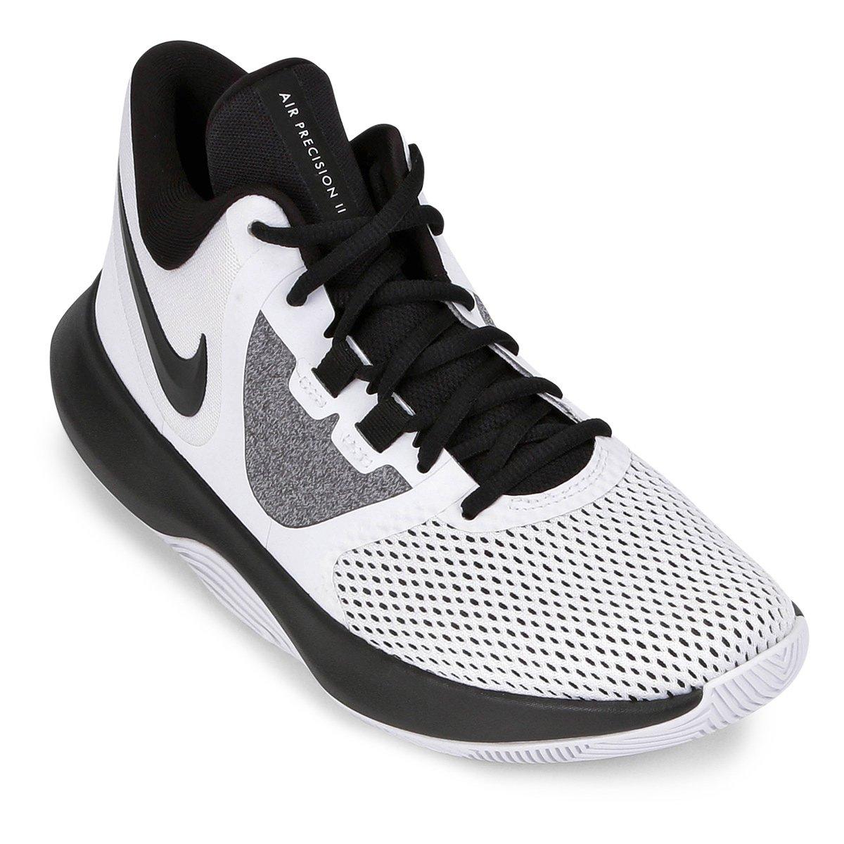 3ed704fc0ff Tênis Nike Air Precision II Masculino - Branco e Preto - Compre Agora