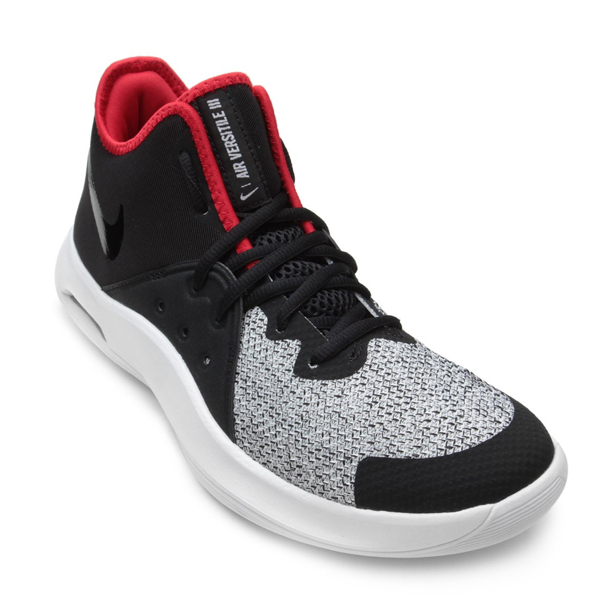 Tênis Nike Air Versitile III Masculino - Preto e Vermelho - Compre ... 19f8e1d5627b5