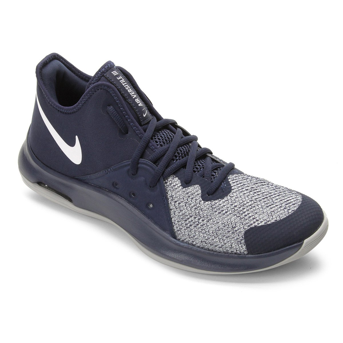 7244b2842121 Tênis Nike Air Versitile III Masculino - Marinho e Cinza - Compre Agora