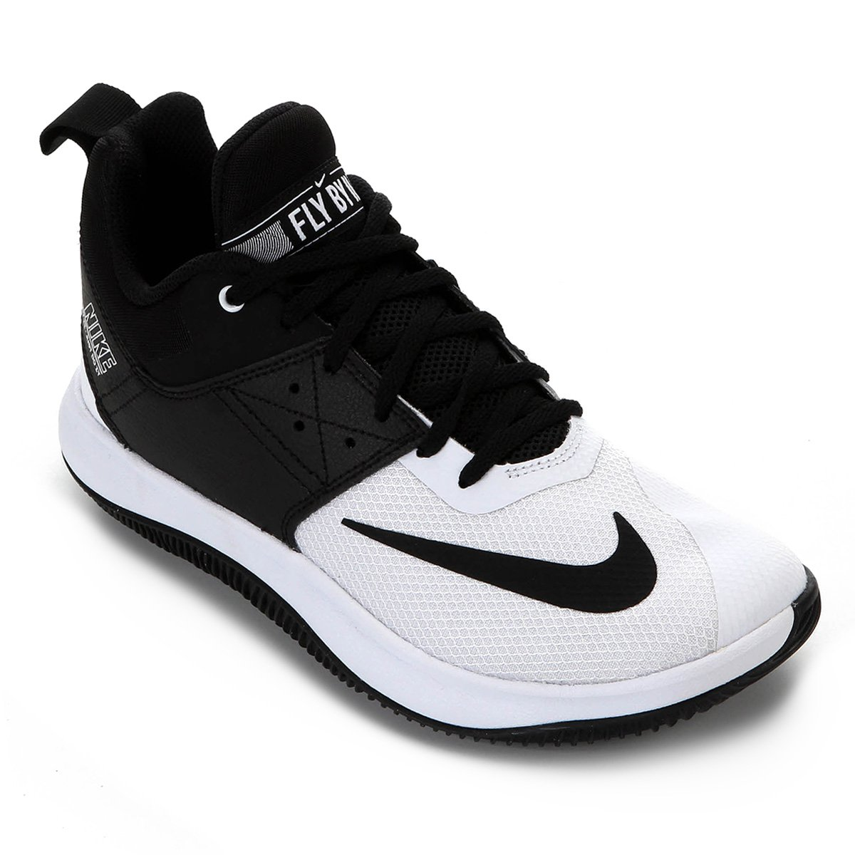 13ccd4c47 Tênis Nike Fly By Low II Masculino - Preto e Off White | Loja NBA