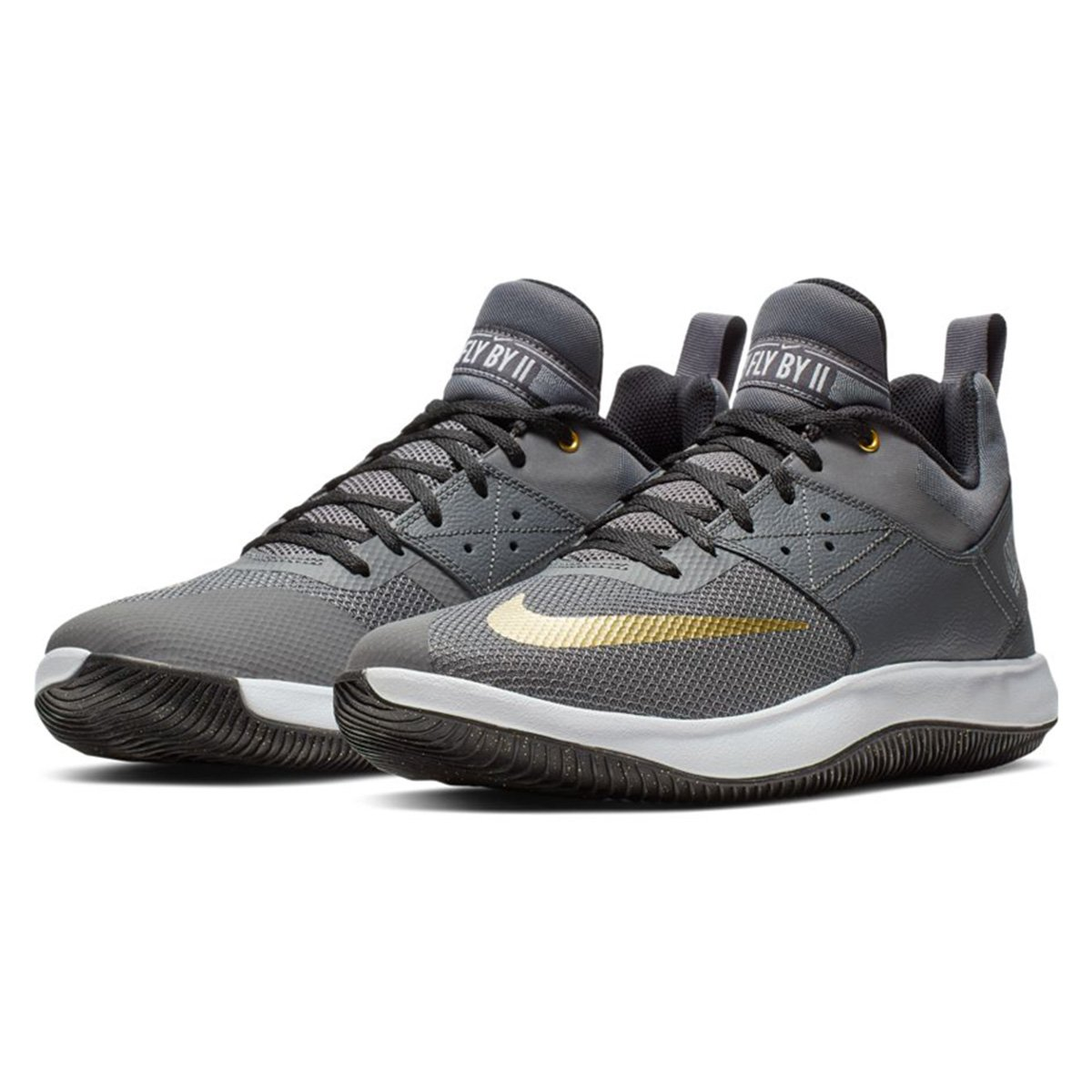 7ff4823fc Tênis Nike Fly By Low II Masculino - Chumbo e Dourado | Loja NBA