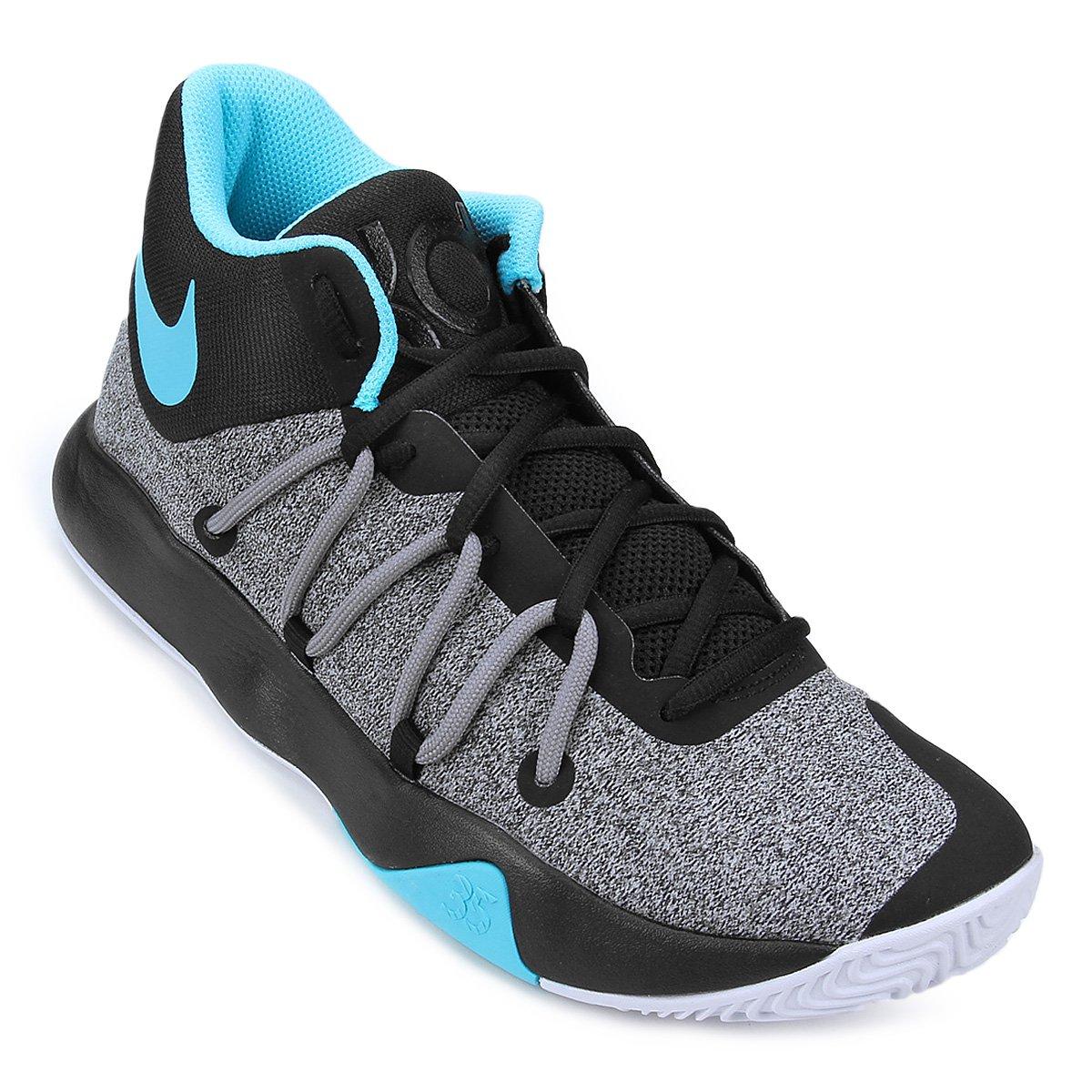 49177907f58 Tênis Nike KD Trey 5V Masculino - Preto e Azul - Compre Agora