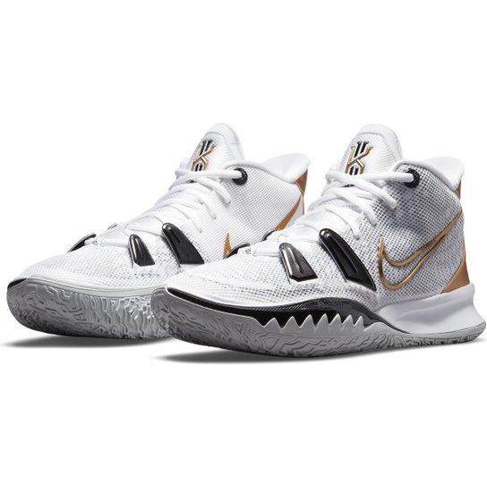 Tênis Nike Kyrie 7 Masculino - Branco+Preto