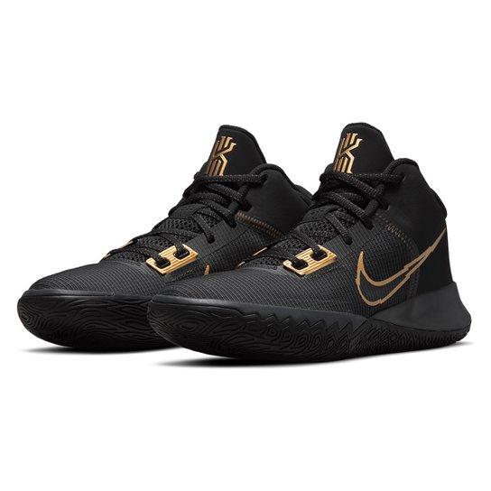 Tênis Nike Kyrie Flytrap IV - Preto+Dourado