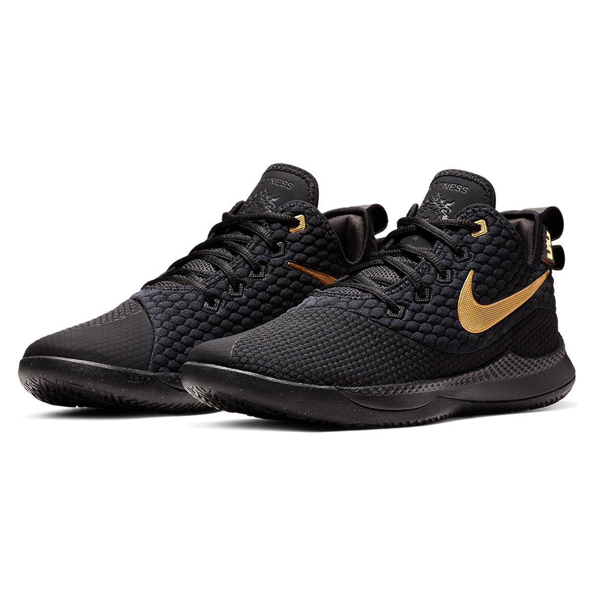 save off 13a07 0cc86 Tênis Nike Lebron Witness III Masculino - Preto e Dourado   Loja NBA