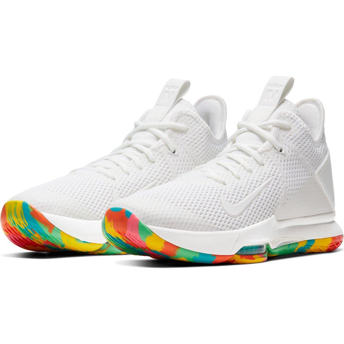 sustracción Testificar trabajo  Tênis Nike Lebron Witness IV Masculino - Amarelo e Branco | Loja NBA