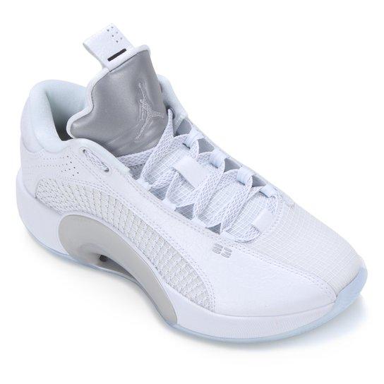 Tênis Nike NBA Air Jordan XXXV Low Masculino - Branco+prata