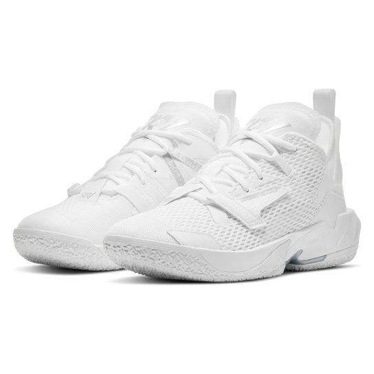 Tênis Nike NBA Jordan Why Not Zer0.4 Masculino - Branco+prata
