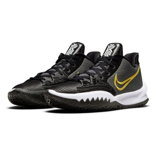 Tênis Nike NBA Kyrie Irving Low 4 - Preto+Branco