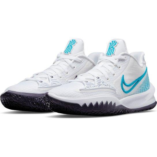 Tênis Nike NBA Kyrie Irving Low 4 - Branco+Azul