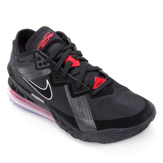 Tênis Nike NBA Lebron James XVIII Low - Preto+Vermelho