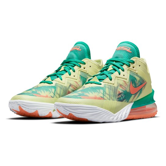 Tênis Nike NBA Lebron James XVIII Low - Branco+Verde