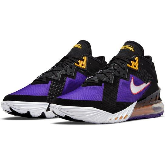 Tênis Nike NBA Lebron James XVIII Low - Preto+Branco