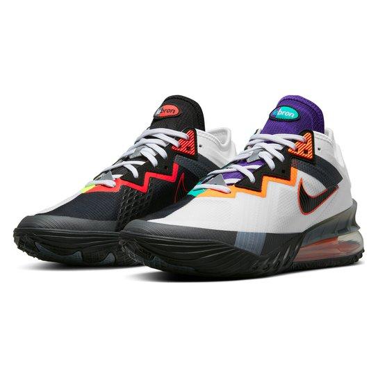 Tênis Nike NBA Lebron James XVIII Low - Branco+Preto