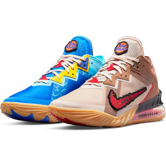Tênis Nike NBA Lebron James XVIII Low - Azul+Bege