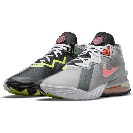 Tênis Nike NBA Lebron James XVIII Low - Chumbo+Laranja