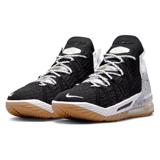 Tênis Nike NBA Lebron James XVIII - Preto+Branco