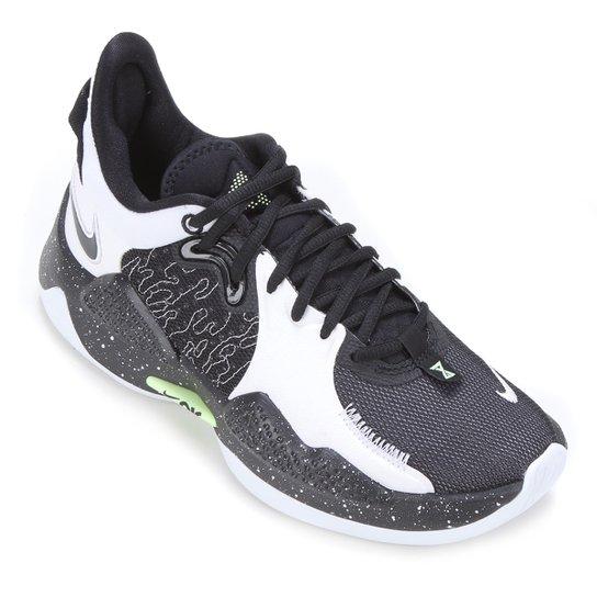 Tênis Nike PG 5 - Preto+Branco