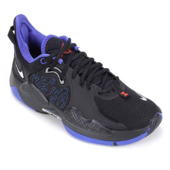Tênis Nike PG 5 - Preto+Prata