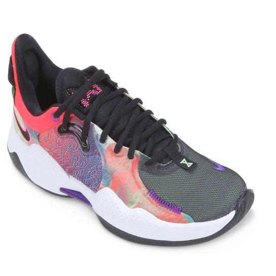 Tênis Nike PG 5 - Salmão+Preto