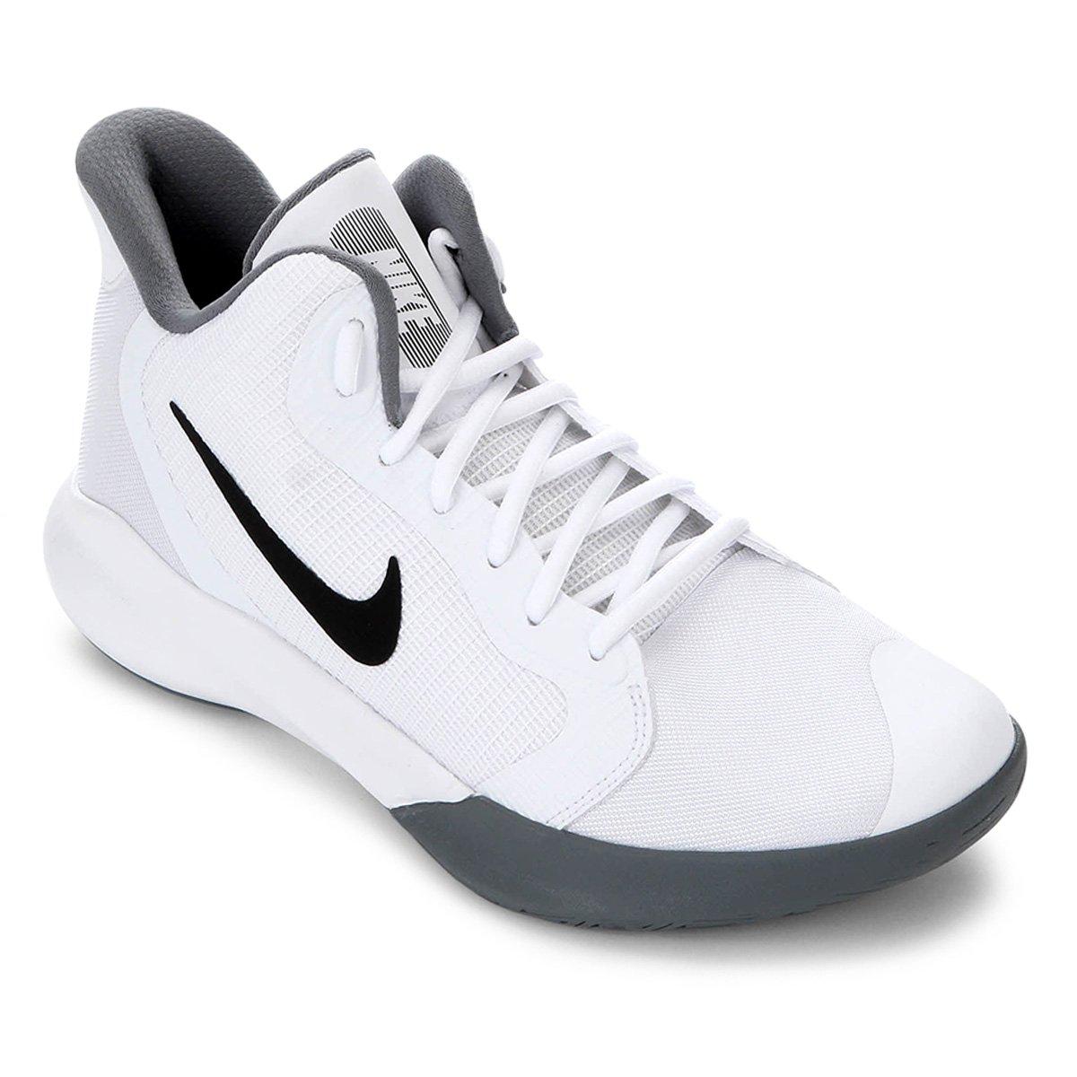 Tênis Nike Precision III Branco e Preto
