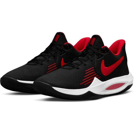 Tênis Nike Precision V - Preto+Vermelho