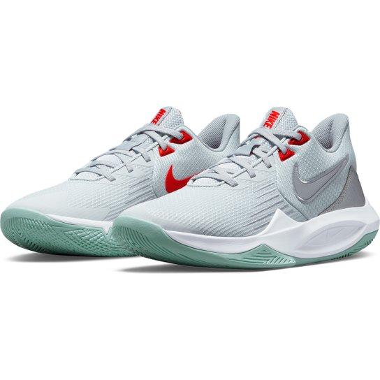 Tênis Nike Precision V - Branco+Cinza