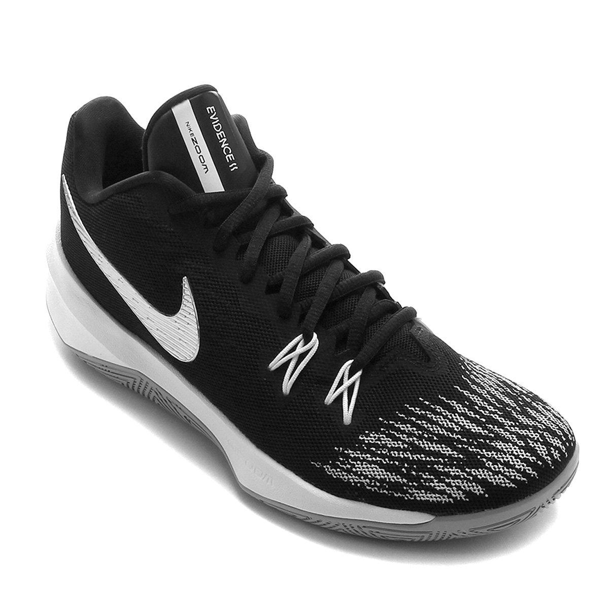0228971a179e2 Tênis Nike Zoom Evidence II Masculino - Preto e Cinza   Loja NBA