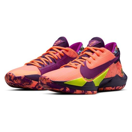 Tênis Nike Zoom Freak 2 Letter Bro Masculino - Coral