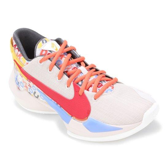 Tênis Nike Zoom Freak 2 Letter Bro Masculino - Bege+Vermelho