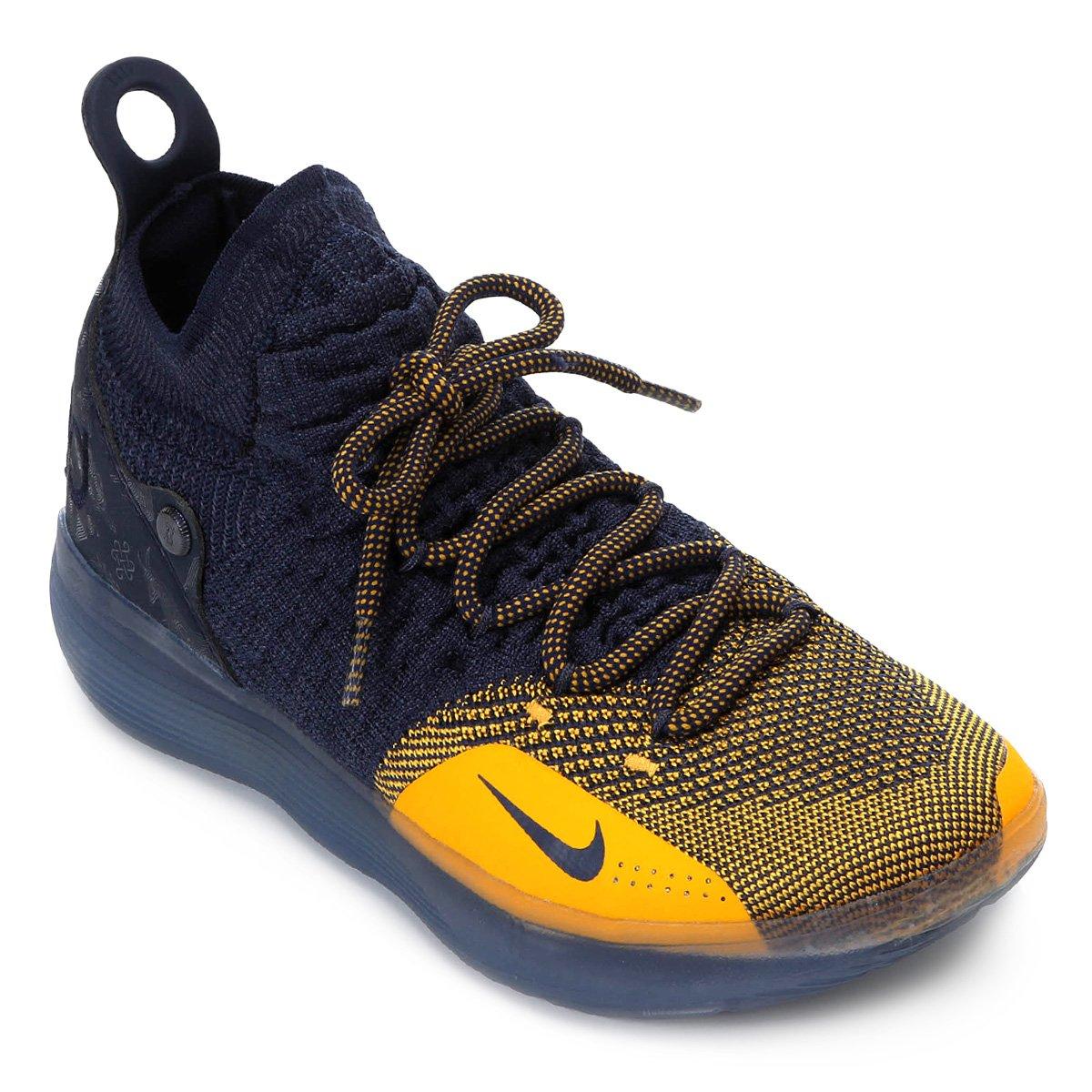 2633d7abd3 Tênis Nike Zoom KD 11 Masculino - Marinho e Laranja - Compre Agora ...
