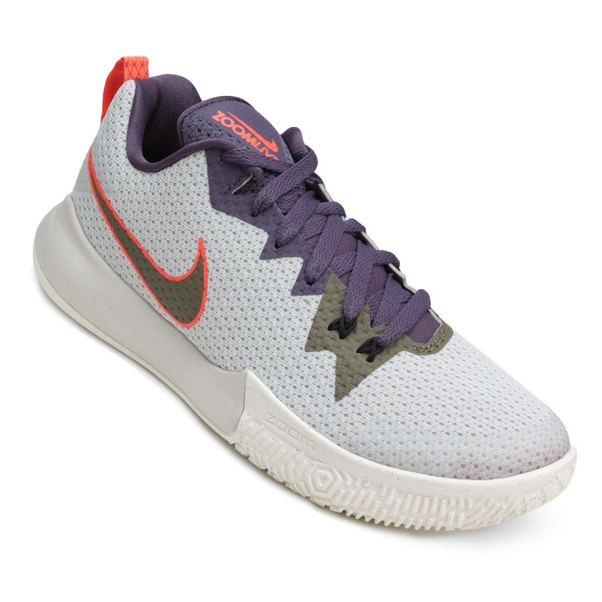 dar a entender desmayarse Sangrar  Tênis Nike Zoom Live II Masculino - Branco e Roxo   Loja NBA