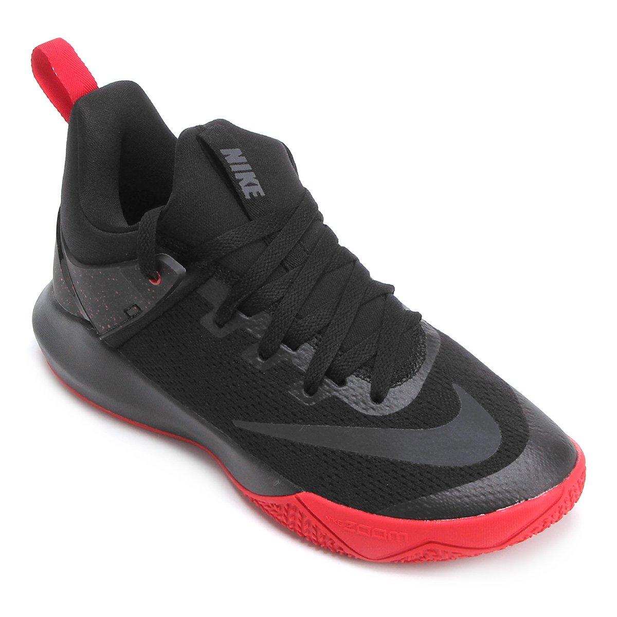 3aad739a0c43 Tênis Nike Zoom Shift Masculino - Preto e Vermelho - Compre Agora ...