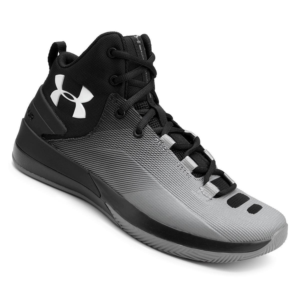 90db8d9ba Tênis Under Armour Rocket 3 Masculino - Preto e Cinza | Loja NBA